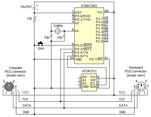 Схема клавиатурного шпиона
